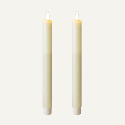 D2.2cm Real Flame Led Candle Set Of 2 for home decoration