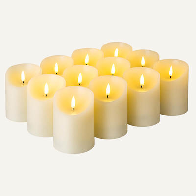 Flameless led candles with remote Set Of 12