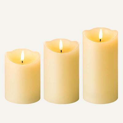 D8cm flameless wax candles Set Of 3