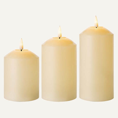 D7.5cm 3D flame LED candle Set Of 3