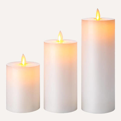 D7.5cm Real Wax Led Candle with remote